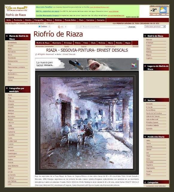 RIAZA-SEGOVIA-PINTURA-PUEBLOS-CUADROS-ESTO ES ESPAÑA-PINTOR-FOTOS-PAISAJES-ERNEST DESCALS