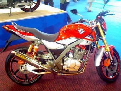 Modifikasi Honda Tiger airbrush