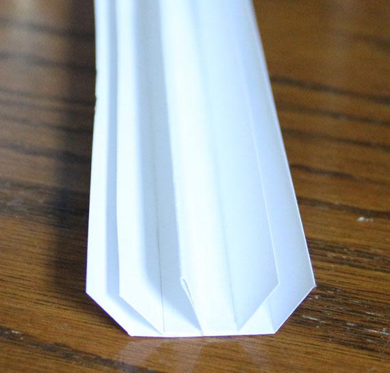 folded paper spine