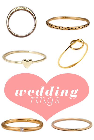 Simple wedding rings I 39ve spotted lots of women around New York recently