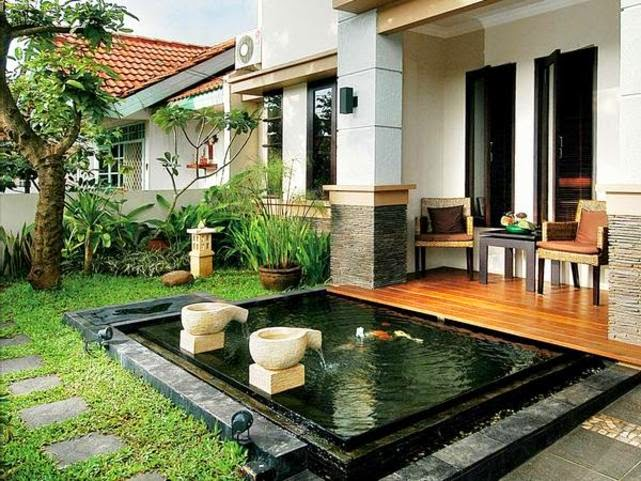 The terrace-house-minimalist-With-Garden-Swimming-Fish