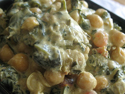 Chana Saag (Chickpea and Spinach Curry)