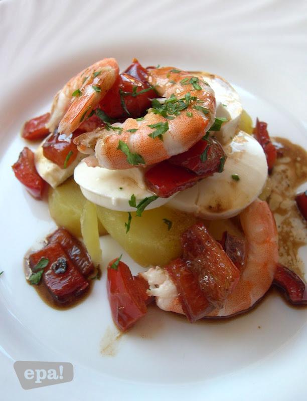 Desayuno de domingo ensalada de langostinos patatas y - Ensalada de langostinos ...