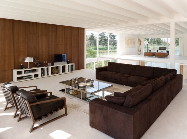 desain ruang tamu cantik warna coklat rancangan desain