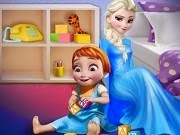 Frozen Elsa playing with Baby Anna