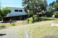 Operações de poda, capina, roçada e varrição na pracinha de Taumaturgo