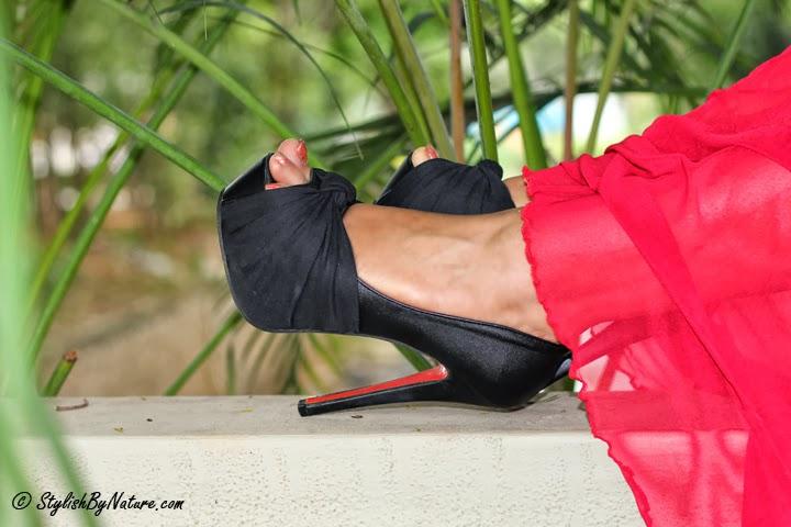 Black peep toes high heel