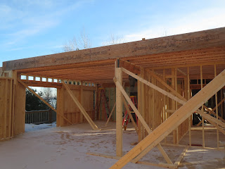 custom lake home framing, huisman concepts, ely, mn