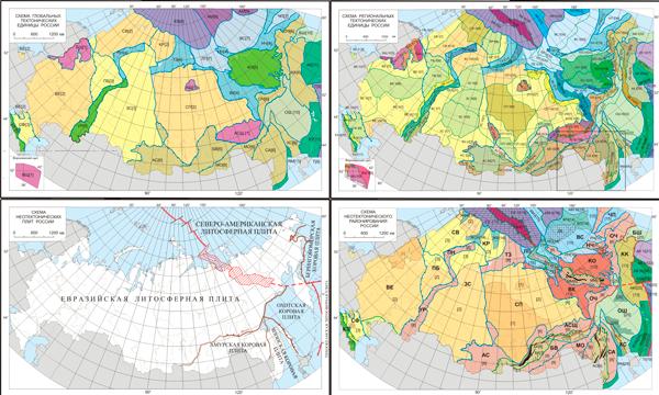Открыть карту тектонического