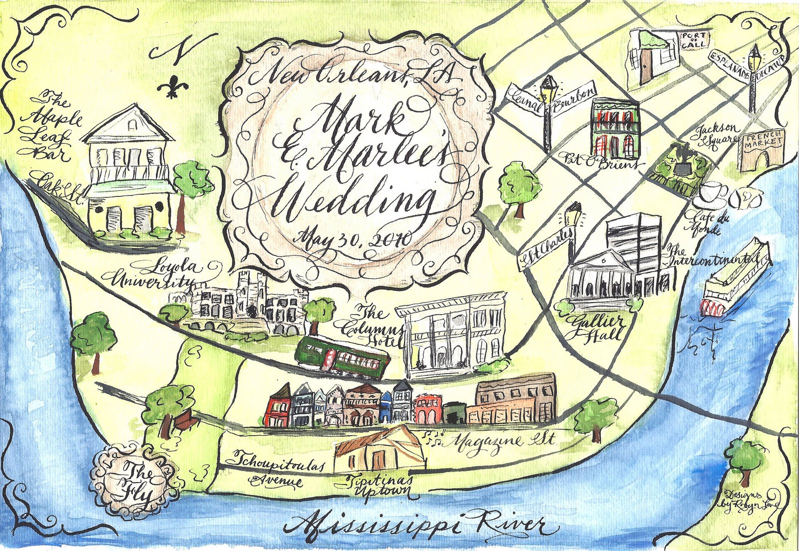 Designs By Robyn Love Calligraphy Wedding Maps In