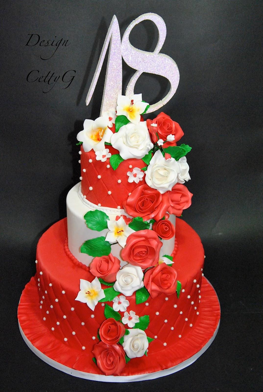 abbastanza Le torte decorate di Cetty G: 18° Compleanno cascata di fiori AA03