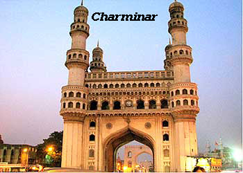 The Charminar of the tourist attractions in Hyderabad