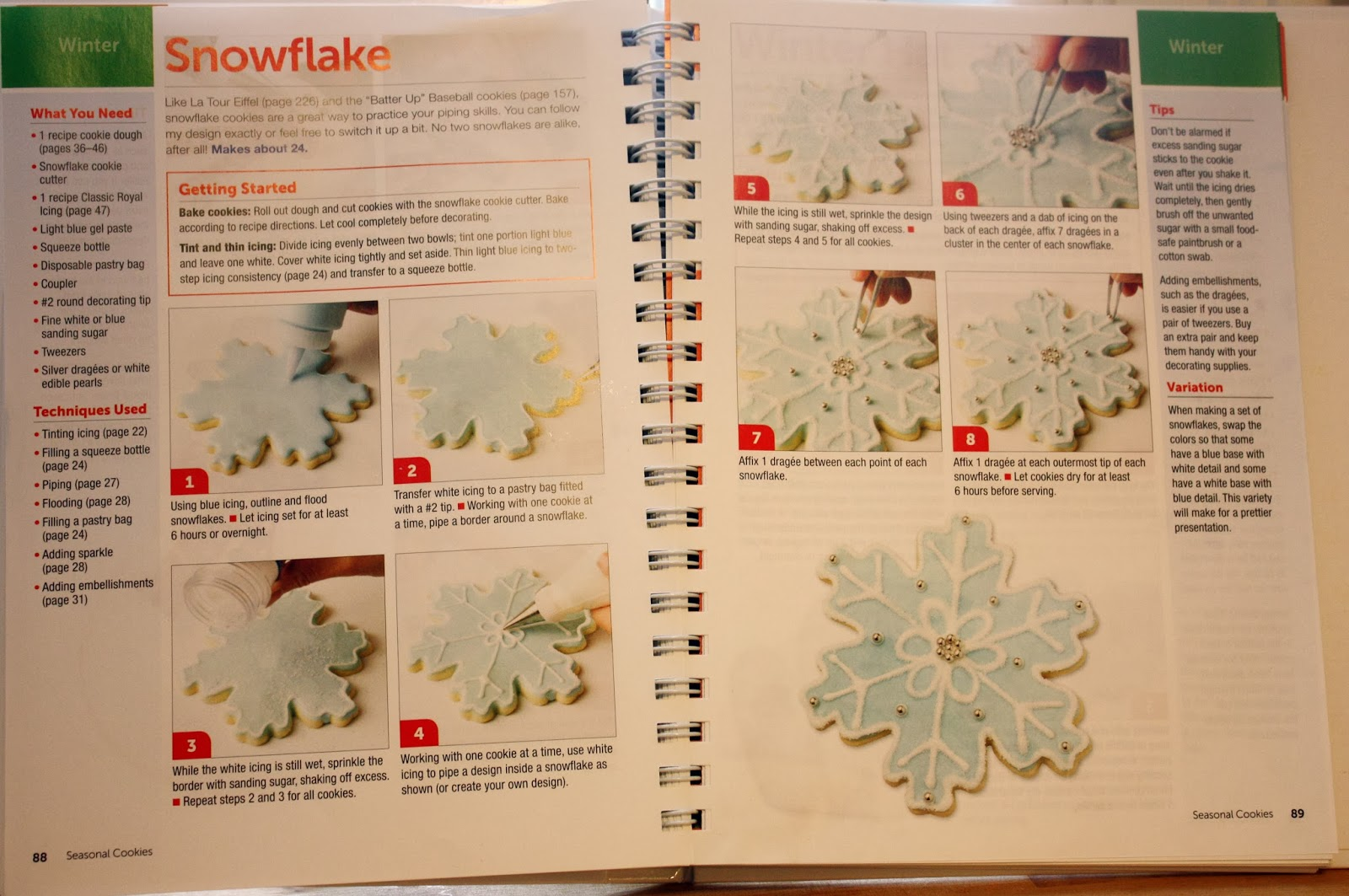 Snowflake cookie tutorial