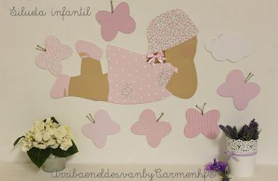 silueta infantil personalizada para niña
