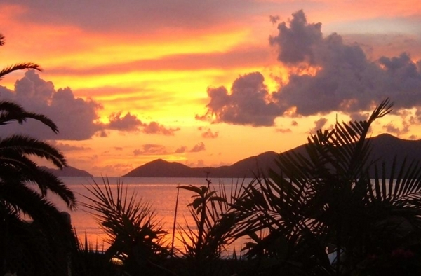 Sunset in the British Virgin Islands by http://DearMissMermaid.com copyright by Dear Miss Mermaid