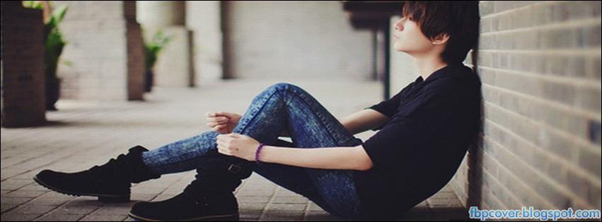 Alone Sadness Cute Boy Adorable Beautiful Facebook Cover Fb Timeline Fbpcover