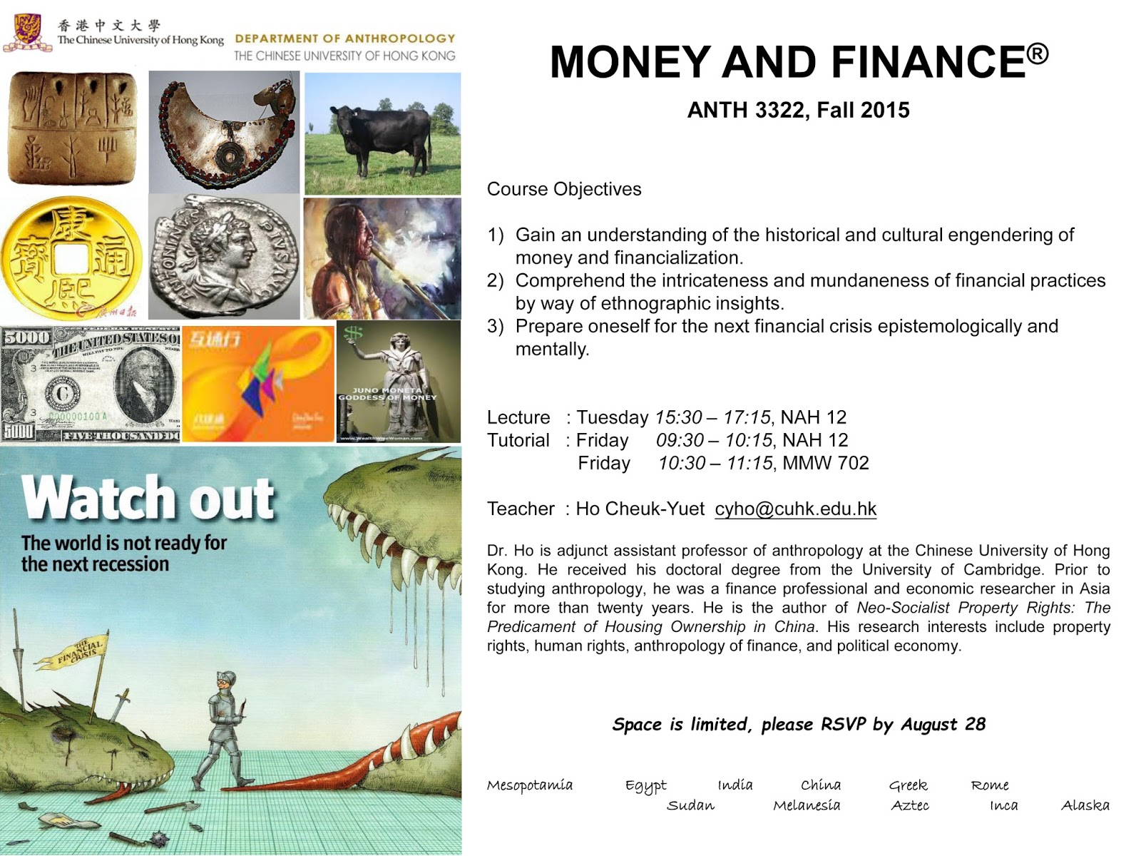 finance 310 syllabus spring 2015 1 Arec 408 agricultural finance  term offered: fall 2013 then spring only beginning in 2015  arec 310 syllabus: koontz.