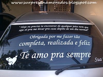 adesivo declaração para o namorado no carro