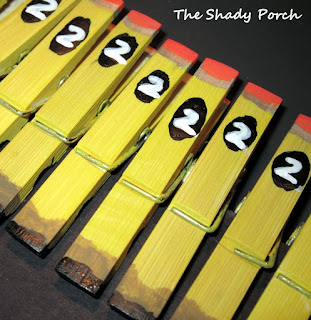 #2 Pencil Clothespin Magnets by The Shady Porch