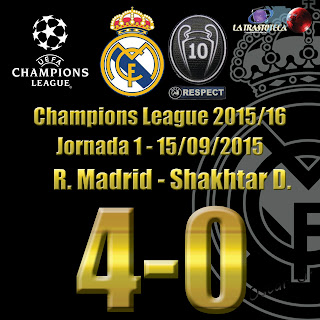 Benzema (1-0) - Real Madrid 4 - 0 Shakhtar D. Champions League. Jornada 1 (15/09/2014)