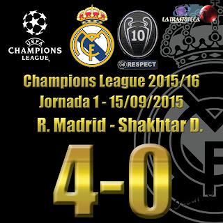 Cristiano Ronaldo (Hat-Trick) - Real Madrid 4 - 0 Shakhtar D. Champions League. Jornada 1 (15/09/2014)