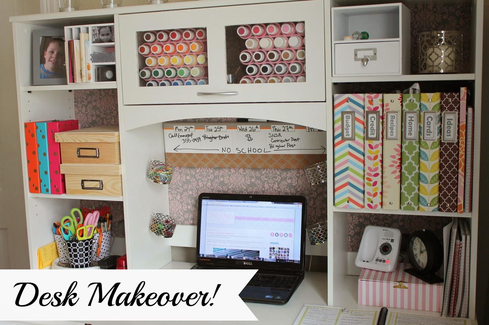 my desk makeover