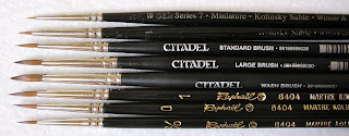 W&N Series 7, Citadel & Raphael 8404 Brushes: A Comparison review