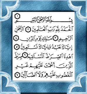 Baca surah Al-Fatihah Dalam Solat