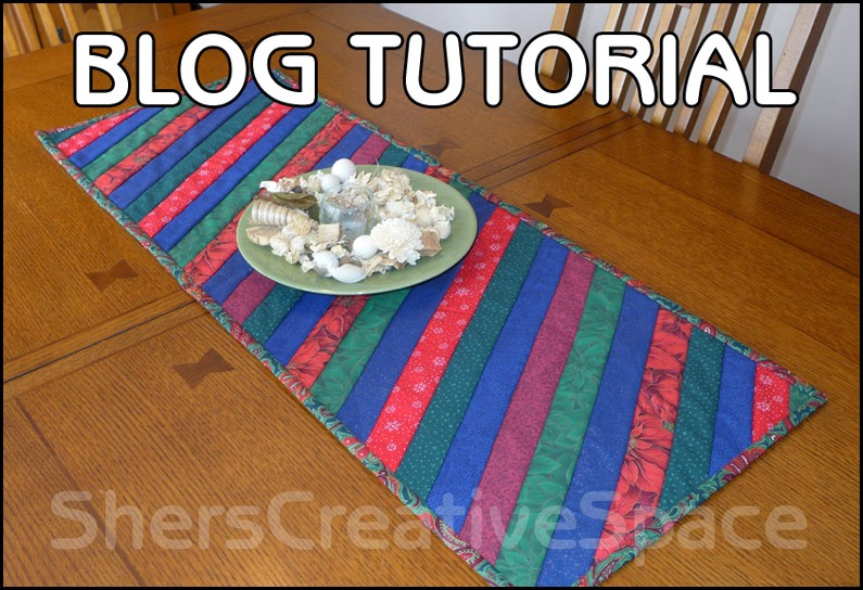 Shers Creative Space Easy Quilt As You Go Table Runner Tutorial