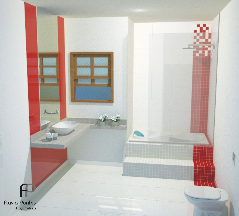 Flavia Pontes Arquitetura: Junho 2012 #9A3731 1498x1352 Bancada Banheiro Vermelha