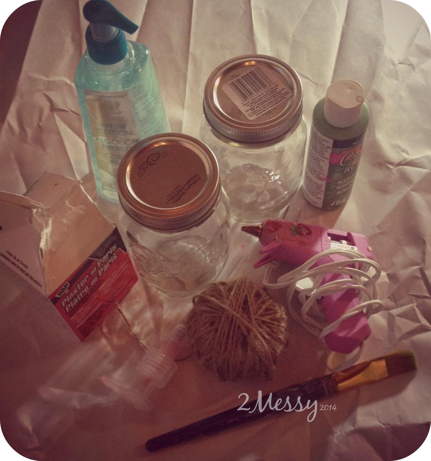 2messy diy mason jar bathroom accessories for Mason jar bathroom ideas