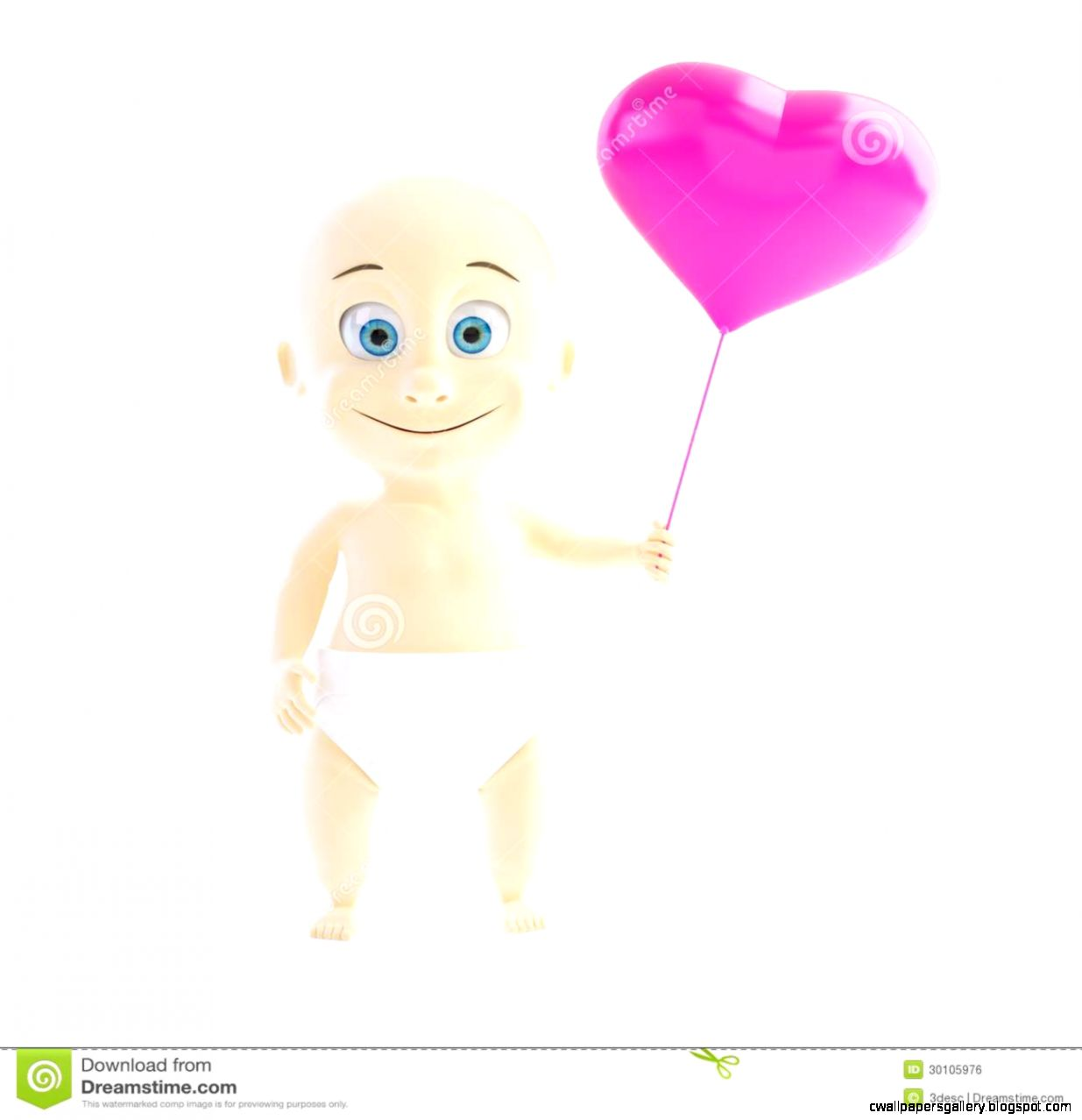 Baby Love Heart Stock Photo   Image 54060894