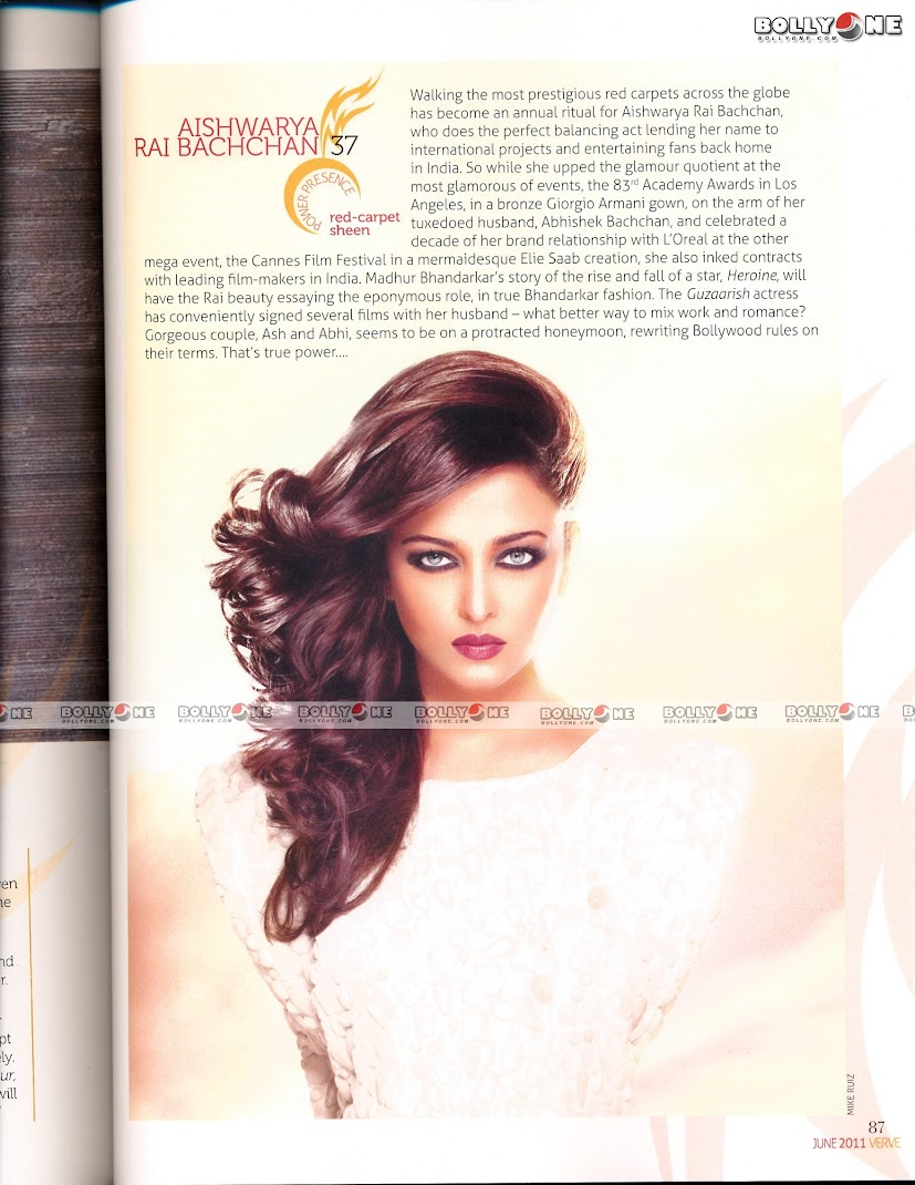 Aishwarya Rai Bachchan Hot VERVE Magazine June 2011  Scan