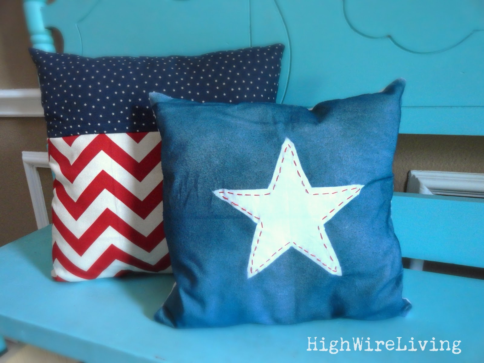 High Wire Living: independence day craftiness: spray painted star ...