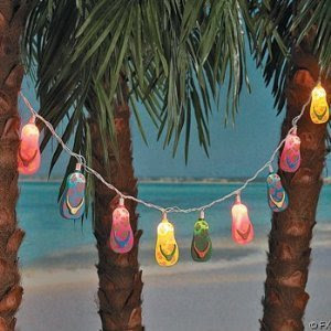 flip flop patio string lights