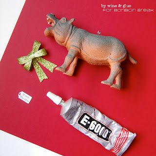 I Want a Hippopotamus Christmas Ornament by Lisa Longley of Wine & Glue DSC 0951a