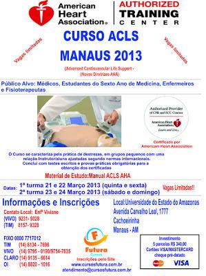 Curso ACLS Manaus 21,22 e 23 e 24 Março 2013