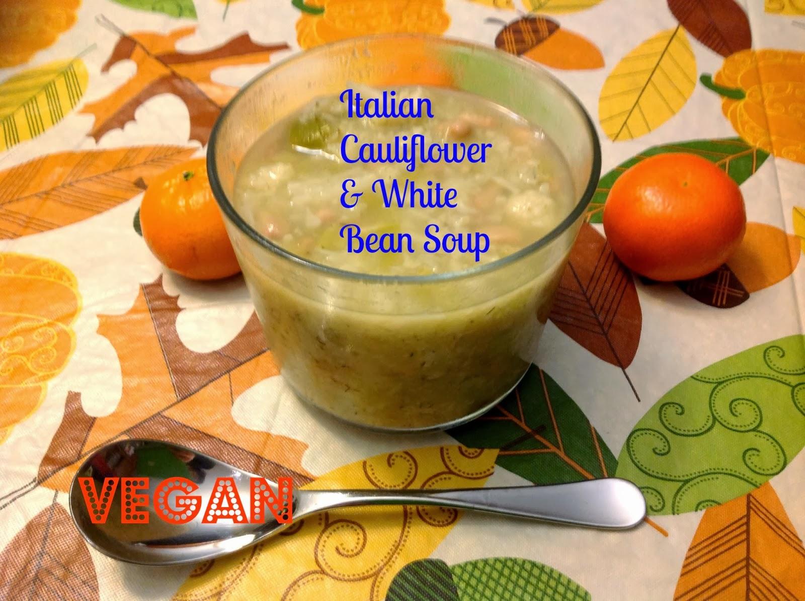 Gluten Free A-Z : Cauliflower & White Bean Soup