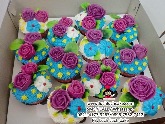 Cupcake Bunga Buttercream Daerah Surabaya - Sidoarjo (REPEAT ORDER)