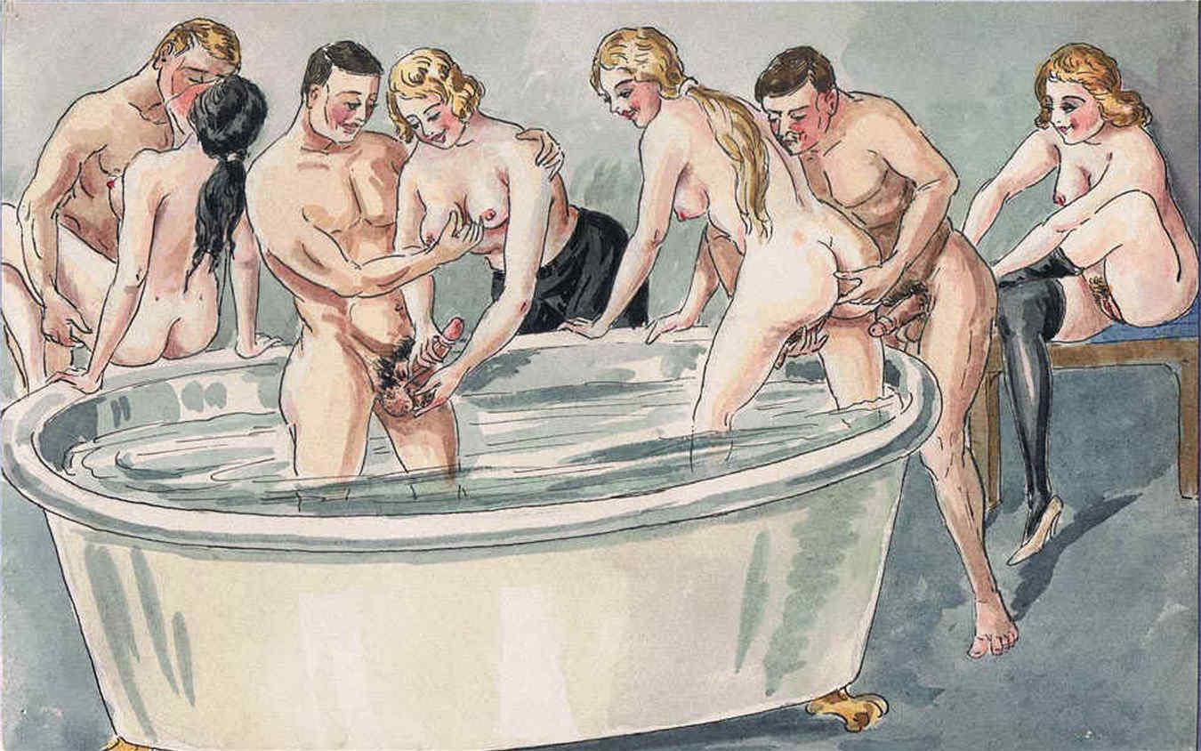 Эротические старинные фото рисунки 4 фотография