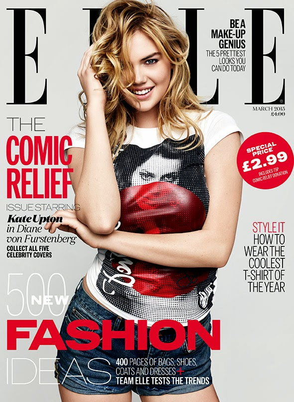 Model, Actress, Singer: Kate Upton, Keira Knightley, Daisy Lowe, Pixie Geldof and Abbey Clancy for Elle UK
