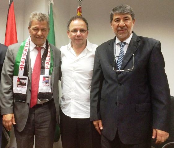 Ato de solidariedade ao povo palestino na Assembleia de São Paulo