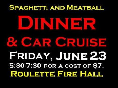 6-23 Spaghetti Dinner & Car Cruise