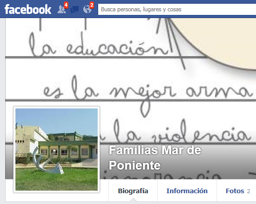 Facebook Familias Mar de Poniente
