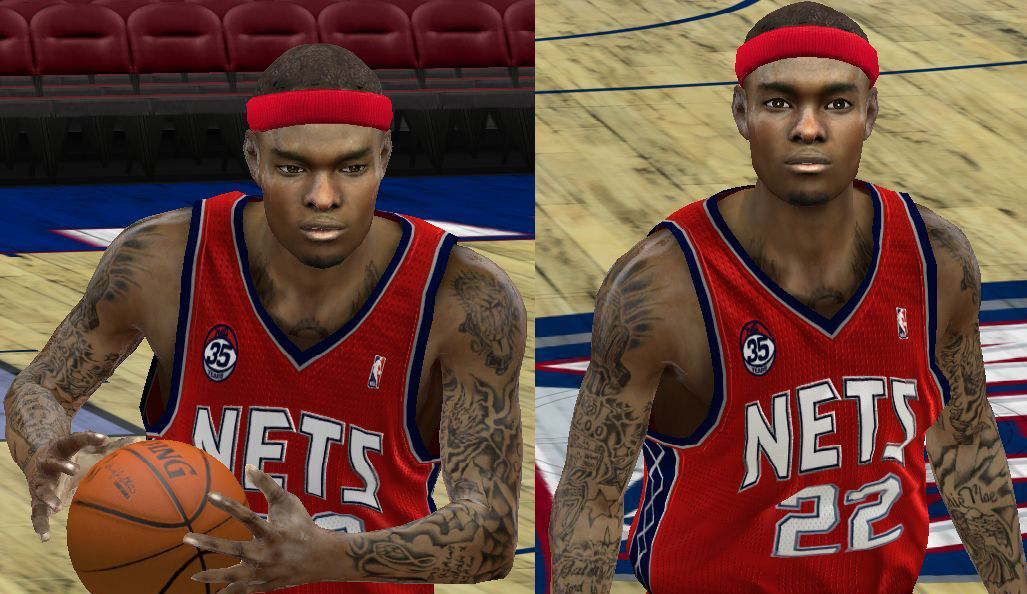 Anthony morrow cyber face nba 2k12 enhanced tattoos