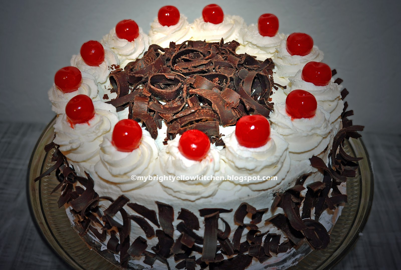 My Bright Yellow Kitchen Black Forest Cake Ala Red Ribbon