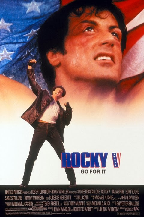 Rocky 5 - Starring Sylvester Stallone, Talia Shire, Burt Young, Sage Stallone and Tommy Morrison - Released in 1990