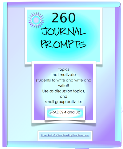 photo of 260 Journal Prompts, Free, ELA, writing, Ruth S. TeachersPayTeachers.com