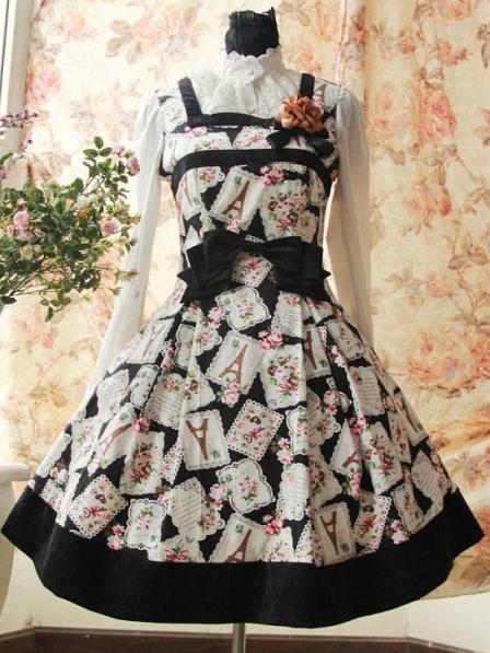 Classic Printed Rococo Lolita Dress