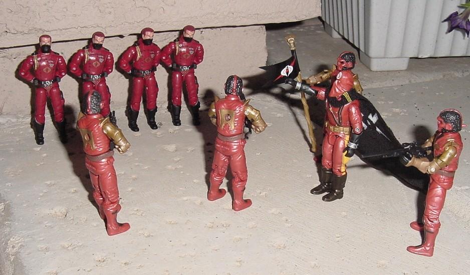 2005 Imperial Processional Cobra Commander, Processional Trooper, Crimson Guard, TRU Exclusive